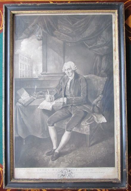 Antique Georgian Engraving of English Philanthropist Jonas Hanway Marine Society